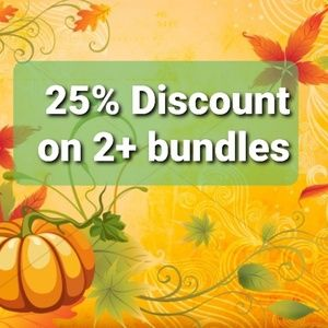 SALE----25% OFF BUNDLES OF 2 OR MORE ITEMS